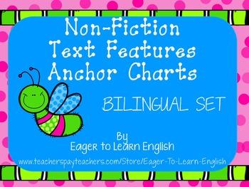 BILINGUAL SET: Non-Fiction Text Features Anchor Charts