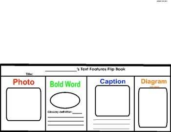 Non-Fiction Text Features Flip Book