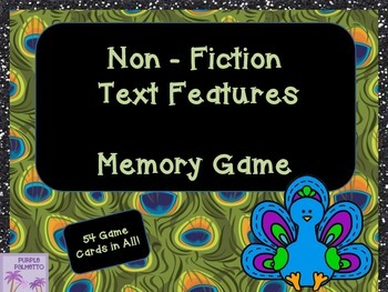 Non Fiction Text Features Memory Game (Informational Text)