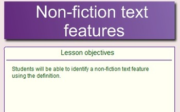 Non-Fiction Text Features SMART Notebook File