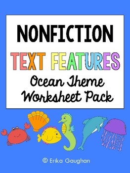 Non Fiction Text Features Worksheet Pack {Animal Theme}