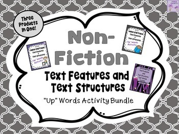 "Non-Fiction Text Features and Text Structures ""Up""-Words A"