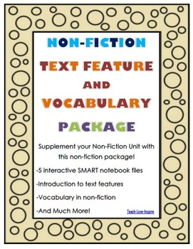 Non-Fiction Text Features and Vocabulary Package