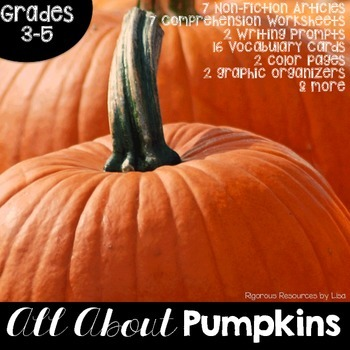 Pumpkins Nonfiction Passages and Text Dependent Questions
