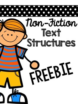 Non-Fiction Text Structures Flip-Flap and Graphic Organize