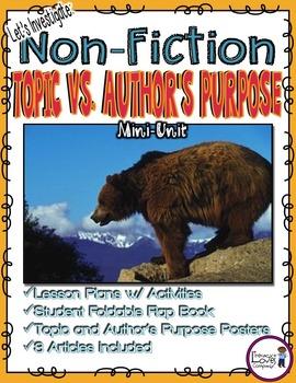 Nonfiction Text: Topic vs. Author's Purpose