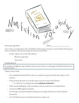 Non-Fiction Vocabulary Scavenger Hunt