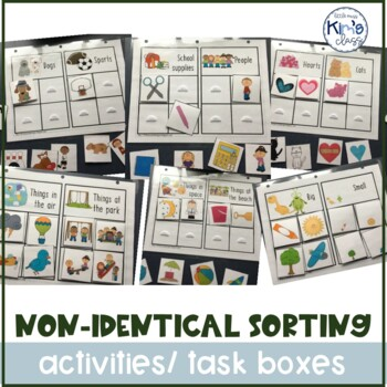 Non-Identical Sorting Activities- Independent Work/File Fo