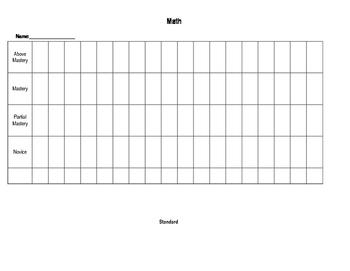 Non Numerical Student Data Binder Graph-Math
