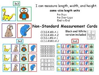 Measurement Cards Non Standard Units