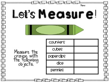 Non-Standard Measurement pg. 10
