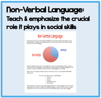 Non-Verbal Language:Teach & emphasize the crucial role it