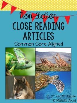 Non-fiction Close Reading Articles (FREEBIE)