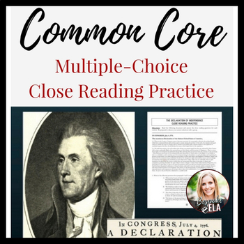"""Nonfiction Close Reading Practice of the """"Declaration of I"""
