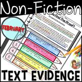 Non-fiction Text Evidence {February}
