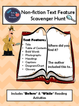Non-fiction Text Features Scavenger Hunt