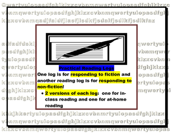 Nonfiction and Fiction Reading Logs (per chapter/short sto
