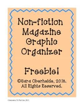 FREE -- Non-fiction magazine graphic organizer