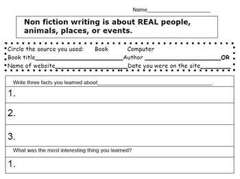 Non fiction research