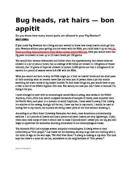 Keystone Test Prep-NonFiction Article: Bug Heads, Rat Hair