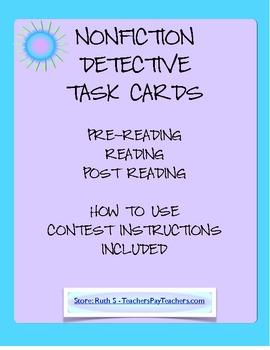 NonFiction Detective Task Cards