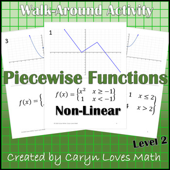 Graphing Piece-wise-defined Functions~Non-Linear