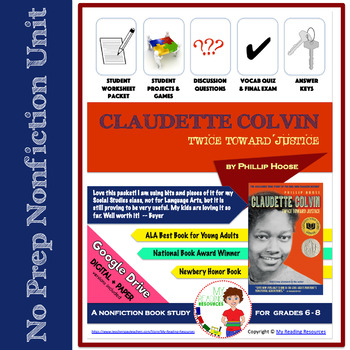 Nonfiction Book Unit: Claudette Colvin Twice Toward Justice
