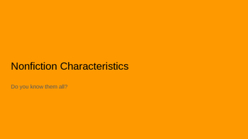 Nonfiction Characteristics Bundle (PowerPoint, Anchor Char