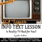 Nonfiction Close Reading Lesson on Hot Topics: Is Reality