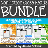 Nonfiction Close Reads BUNDLE (Fall, Winter, Spring)