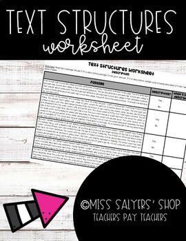 Nonfiction Description Text Structure Worksheet