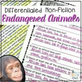Nonfiction Endangered Animals for Language, Comp, & Vocab