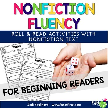 Nonfiction Fluency {Beginning Readers} - Roll and Read Activities