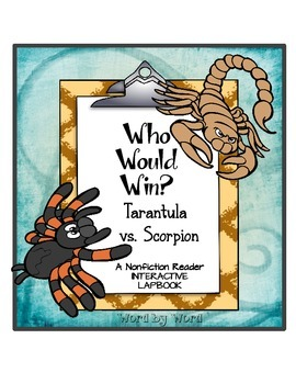 Nonfiction Interactive Lapbook Locating Evidence Tarantula