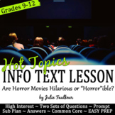 Nonfiction Lesson on Hot Topics: Are Horror Movies Hilario