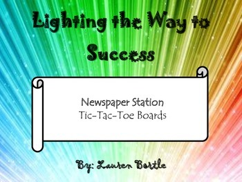 Nonfiction Newspaper Station Tic-Tac-Toe Boards or Task Cards