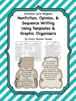 Nonfiction, Opinion, & Sequence Writing Using Templates &