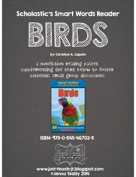 Nonfiction Packet - Scholastic's Smart Words Reader - BIRDS
