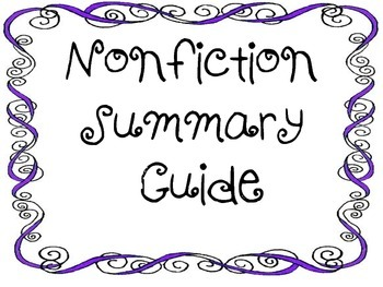 Summary-Nonfiction-Write and Analyze