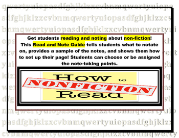 Nonfiction Read and Note Guide