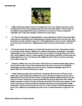 Nonfiction Reading Comprehension Passage With Questions- 880L
