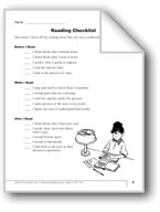 Nonfiction Reading, Gr. 1: Checklist & Graphic Organizers