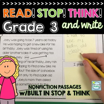 Nonfiction Reading Passages 3rd Grade ~ Stop and Jot ~ 3rd