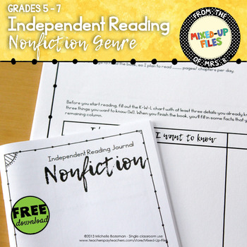 Nonfiction Reading Response - FREE