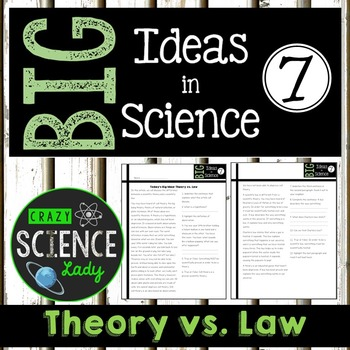Nonfiction Science Close Reading 7: Theory vs. Law