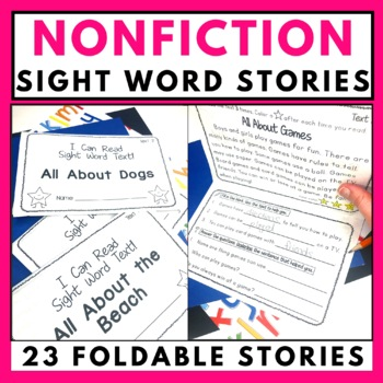 Nonfiction Sight Word Foldable Stories
