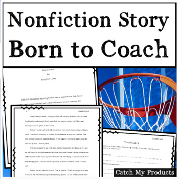 Nonfiction Sports Story with Expository Writing Activity