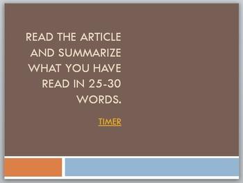 Nonfiction: Summarizing, Paraphrasing, and Plagiarizing Po