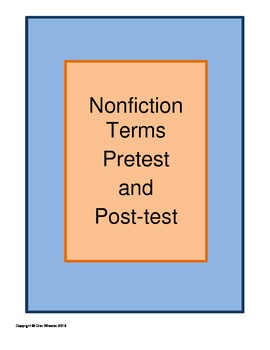Nonfiction Terms Pretest and Post-test