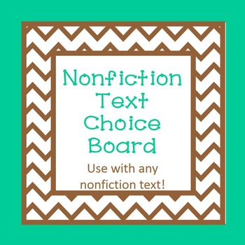 Nonfiction Text Choice Board